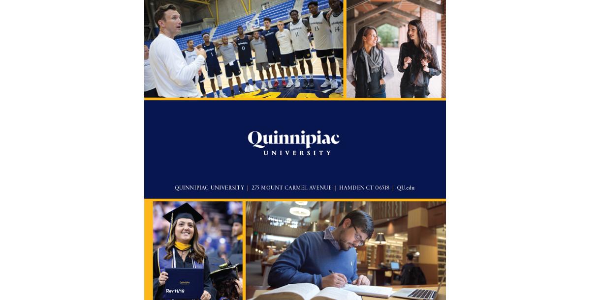 Quinnipiac University Scholarships Brochure